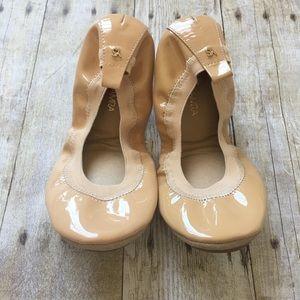 Yosi Samra Patent Nude Flats